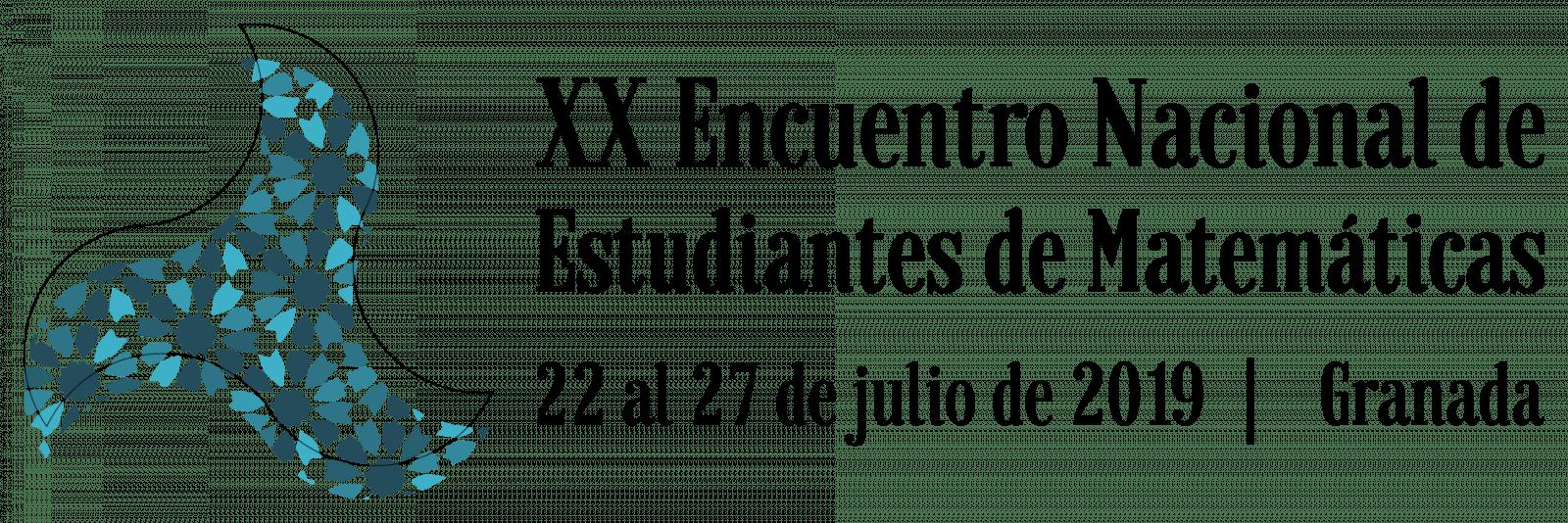 Logo del XX Encuentro Nacional de Estudiantes de Matemáticas