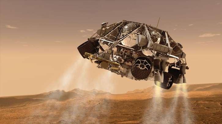 Miquel Sureda, retransmet en directe, des del CCCB, l'aterratge a Mart del Perseverance