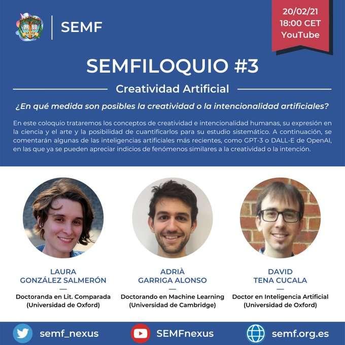 SEMFILOQUIO #3 - ¿Son posibles la creatividad o la intencionalidad artificiales?