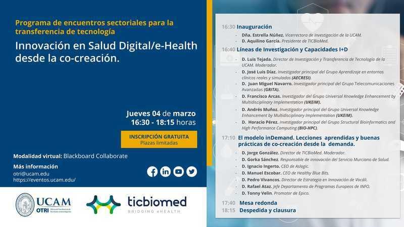 Workshop: Innovación en Salud Digital/e-Health desde la co-creación